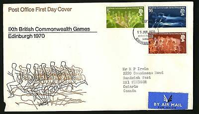 Great Britain 1970  Scott #639-641  Combo FDC set