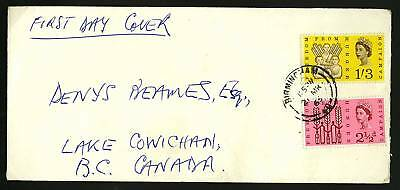 Great Britain 1963  Scott #390-391  Combo FDC set