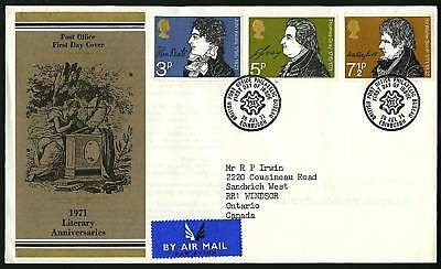 Great Britain 1971  Scott #651-653  Combo FDC set