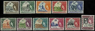 Basutoland   1941    Scott #46-56   Mint Very Lightly Hinged Set