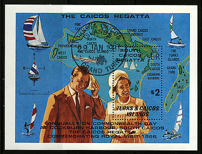 Turks & Caicos   1981   Scott #467    CTO Never Hinged Souvenier Sheet