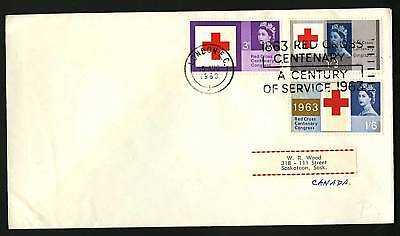 Great Britain 1963  Scott #398p-400p  Combo FDC set