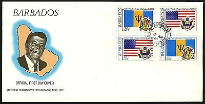 Barbados   1982   Scott #581-584  small FDC