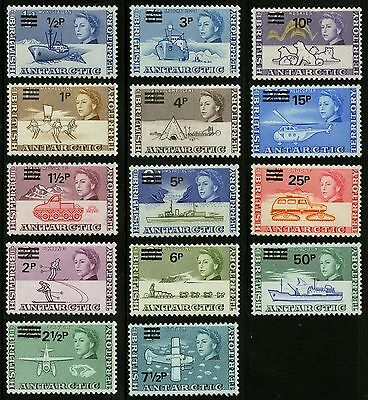 British Antarctic Territory   1971   Scott # 25-38   Mint Lightly Hinged Set