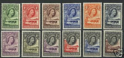 Bechuanaland  1955-58  Scott # 154-165  MLH Set