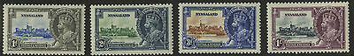 Nyasaland  1935   Scott # 47-50    Mint Never Hinged Set