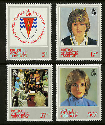 British Antarctic Territory   1982  Scott # 92-95   Mint Never Hinged Set
