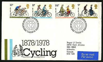 Great Britain 1978  Scott #843-846  Combo FDC set