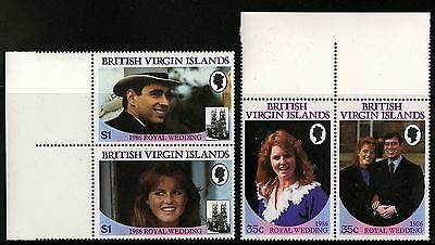 Virgin Islands   1986   Scott #537-540   MNH Pair Margin Set