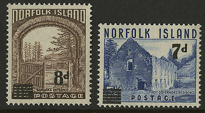 Norfolk Islands   1958   Scott #  21-22    Mint Never Hinged Set