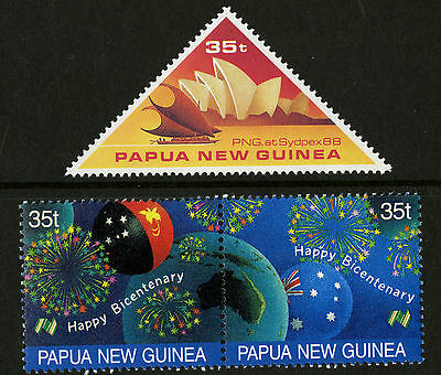 Papua New Guinea   1988   Scott # 695-696    Mint Never Hinged Set