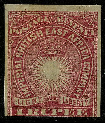 British East Africa  1890-1891   Scott #25a    Mint Hinged Imperf Single