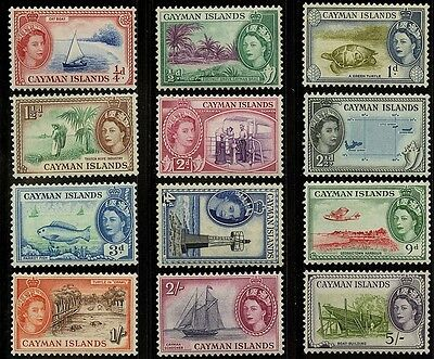 Cayman Islands   1953-59    Scott #135-142, 144-147   MLH Part Set