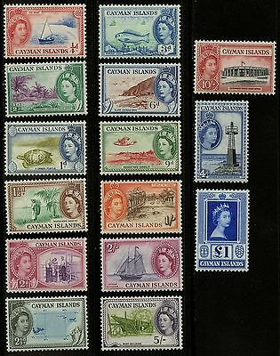 Cayman Islands   1953-59    Scott #135-149   Mint Lightly Hinged Set