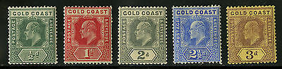 Gold Coast   1907-1913   Scott #56-60   Mint Hinged Part Set