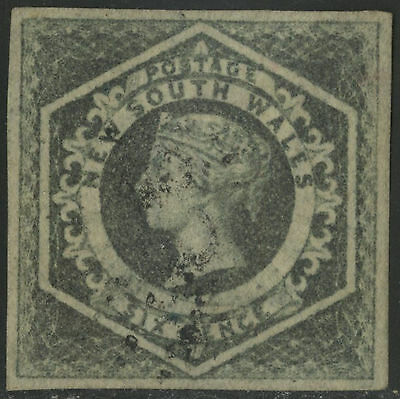 New South Wales   1854-55   Scott # 27  USED