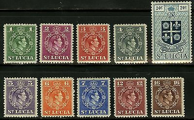 St Lucia   1949   Scott # 135-144 MLH Part Set