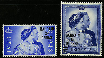 Bahrain   1948   Scott #62-63    Mint Lightly Hinged Set