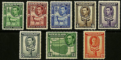 Somaliland Protectorate   1938   Scott # 84-92   Mint Lightly Hinged Part Set