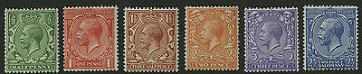 Great Britain   1912-13   Scott # 159-164    Mint Never Hinged Part Set