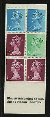 Great Britain   1976-77   Scott #MH 58a    Mint Never Hinged Booklet Pane