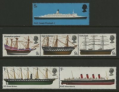 Great Britain   1969   Scott # 575-580    Mint Never Hinged Set
