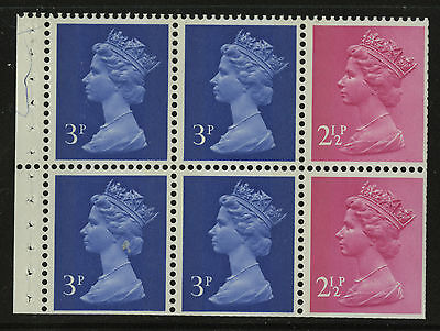 Great Britain   1973   Scott #MH 36a    Mint Never Hinged Booklet Pane