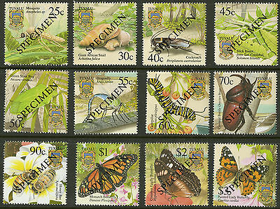 Tuvalu  2001  Scott #862-873  MNH Specimens Set