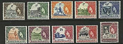 Basutoland 1954  Scott # 46-56  MNH Part Set