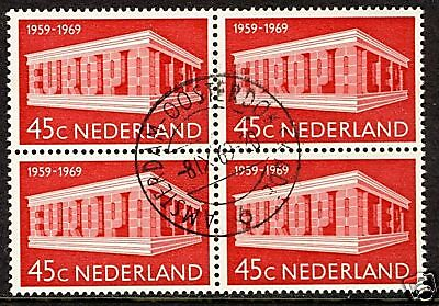 Netherlands 1969  Scott #476   Used Block
