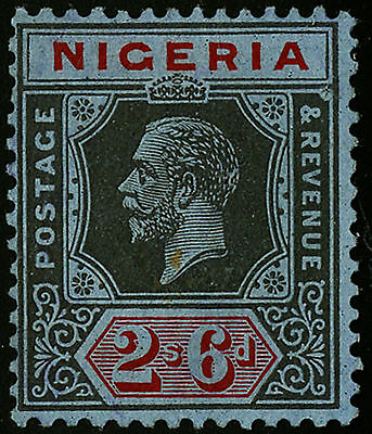 Nigeria  1921-23   Scott #30a     Mint Lightly Hinged - Two Pinholes