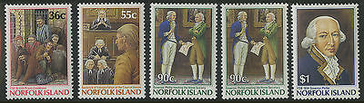 Norfolk Islands   1986   Scott # 392-396    Mint Never Hinged Set