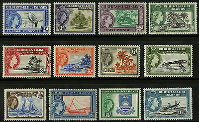 Gilbert & Ellice Islands   1956   Scott # 61-72   Mint Lightly Hinged VF Set