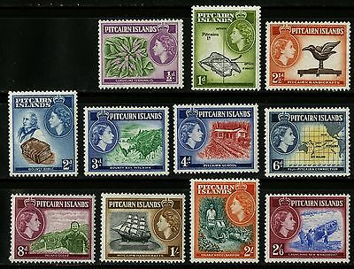 Pitcairn Islands   1957   Scott # 20-30   Mint Very Lightly Hinged Set