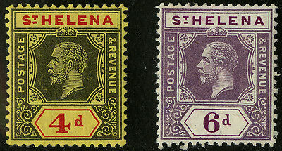 St Helena   1912   Scott #71-72   MLH  Set