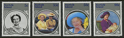Norfolk Islands   1985   Scott # 364-367    Mint Never Hinged Set