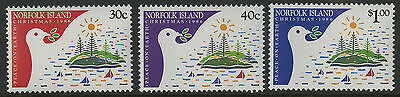Norfolk Islands   1986   Scott # 389-391    Mint Never Hinged Set