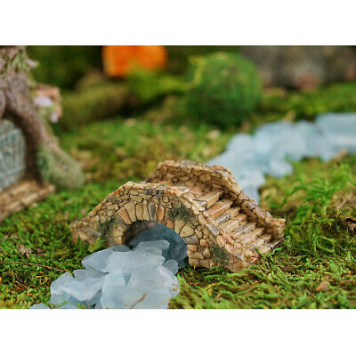 Miniature Dollhouse FAIRY GARDEN - Aged Cobblestone Bridge - Accessories