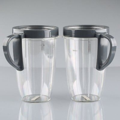 2pcs 24 OZ Spare Part Cups with Handled Lip Ring For Nutribullet