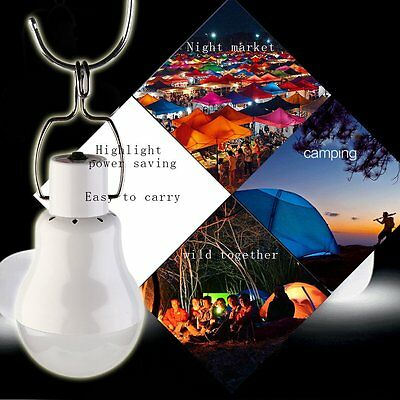 Portable Solar Power 12 LED Bulb Lamp Outdoor Lighting Camp Tent Fishing Light K