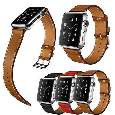 Genuine Leather buckle Watch Band Bracelet Strap belt For Apple Watch 38/42MM