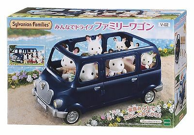 New Sylvanian Families car family wagon Epoch From Japan Free Shipping F/S