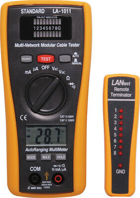 Combination Auto Ranging DMM & LAN Cable Tester D3020