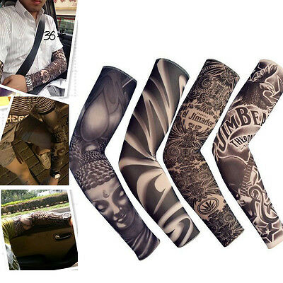 1PC  Cool Arm Sleeve Skin Protection Cover Tattoo Team Elastic Armband