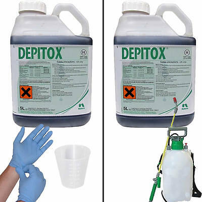 Depitox Selective Weedkiller Ragwort Weeds In Your Grass + Free Cup & Gloves