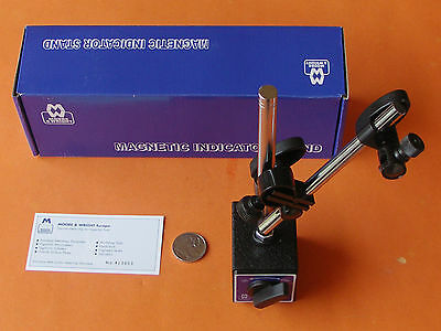 NEW MAGNETIC BASE INDICATOR STAND 475-01 w/- FINE ADJUSTMENT MOORE & WRIGHT