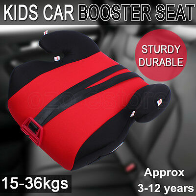 Car Booster Seat  Safe Sturdy Baby Child Kid Children Fit 3 To 12 Years Red AU