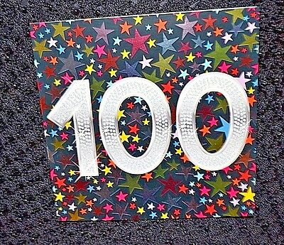 New 100 Years Old Happy Birthday Congratulations Greetings Card