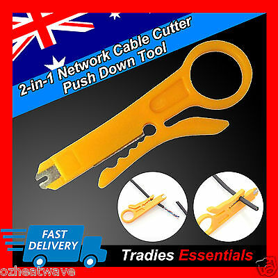 Punch Push Down Tool Stripper Lan Network Cable Keystone Jack Krone CAT5 6 RJ45