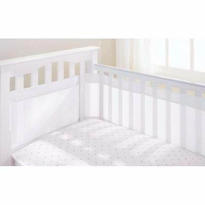 Breathable Baby Classic White Mesh Airflow Cot Liner - 2 or 4 Sided